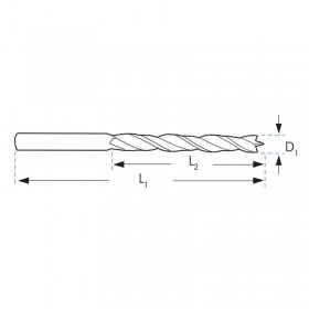 Broca madera extra larga HSS 8x400 mm