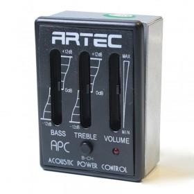 APC previo ecualizador de 2 bandas con compartimento de batería externo
