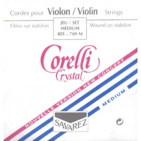 Cuerda Violín  Corelli Crystall 1a Mi. Acero