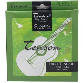 Cuerdas guitarra clásica Tenson Classic Clear Nylon, Alta tensión