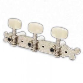 Clavijero Fustero guitarra clásica con lira botones marmorizados crema